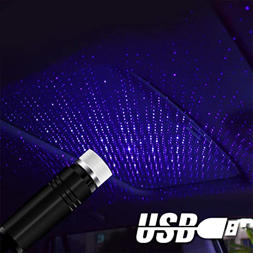 Lámpara Decorativa USB LED Coche Techo Estrella Luz Nocturna ...