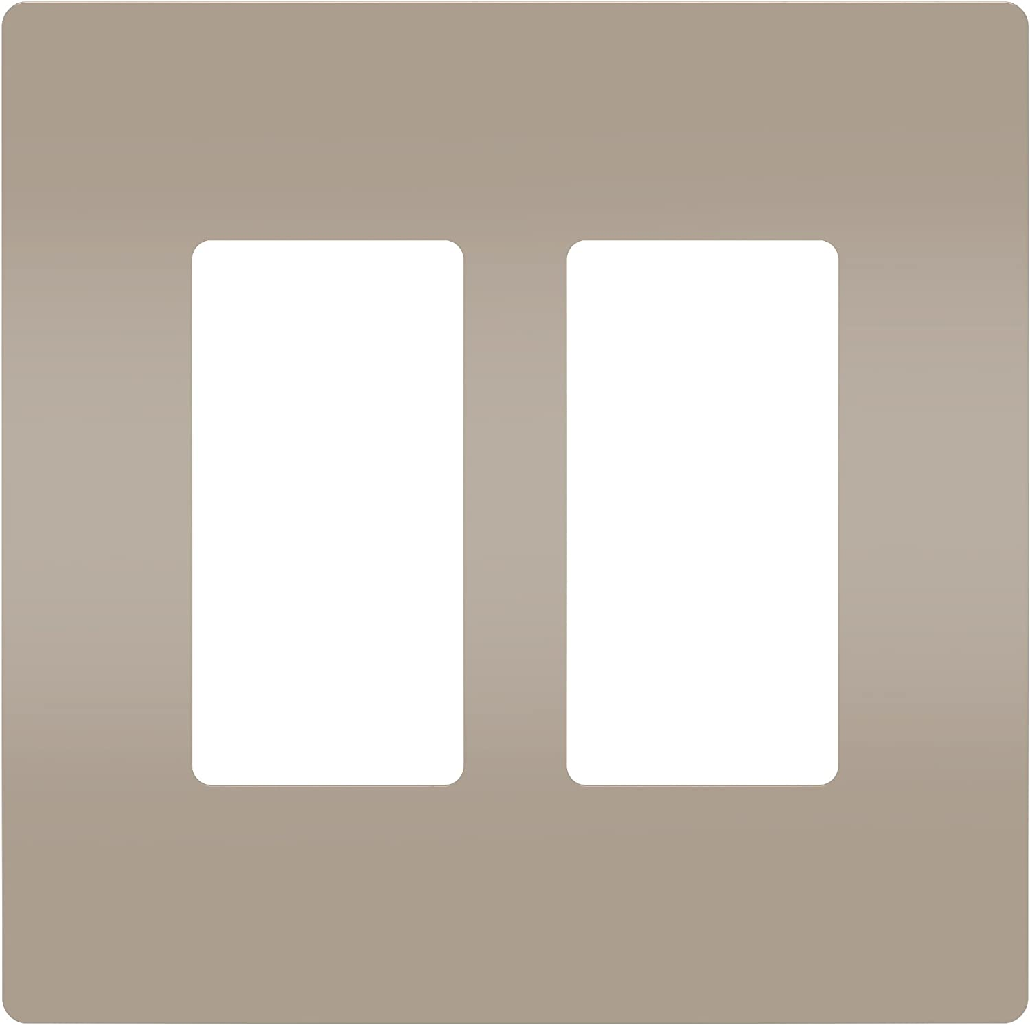 Legrand radiant Screwless Wall Plates for Decorator Rocker Outlets, 2-Gang, Brushed Nickel, RWP262NICC6