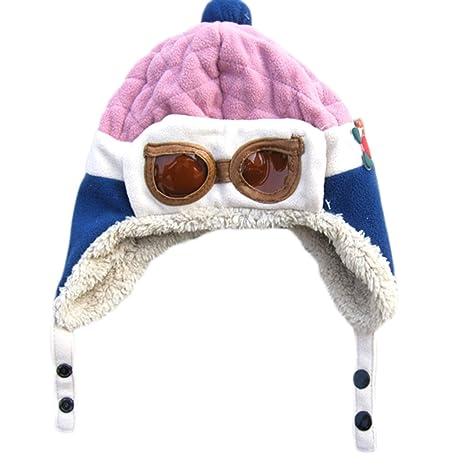 Hosaire 1X Sombreros y Gorras para Bebés Niña Niño Gorro de Aviador para bebés  niños 31a847857cd