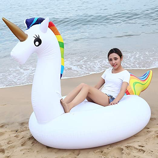 SKY FLO Unicornio Hinchable Piscina,Flotador Inflable ...