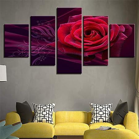 BBQBQ Pintura Decorativa, Flores Pinturas de inyección de ...