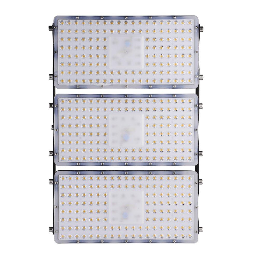 300W LED Baustellenstrahler Fluter Außenstrahler mit IP67 Wasserdicht und SMD 2835 für Garten Werkstätte Fabrike Garage Oder Sportplatz  (Warmweiß, 300W-30000LM)