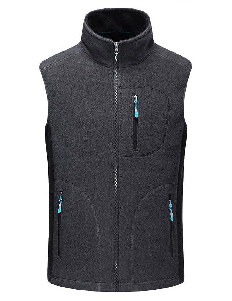 IDEALSANXUN Women/'s Stand Collar Fleece Vest Sleeveless Jacket Sportswear