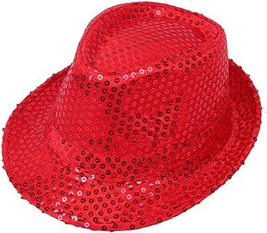 Wicemoon 1pcs Gorra de Baile de Sombrero de Lentejuelas de ...