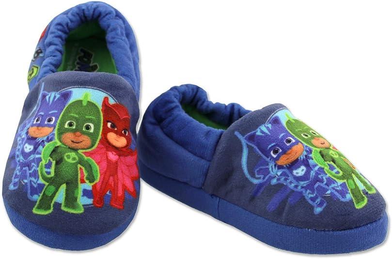 PJ Masks Boys Slippers,Catboy and Gekko,Socktop Slip On Slipper,Toddler Boys and Girls size 5 to 12.