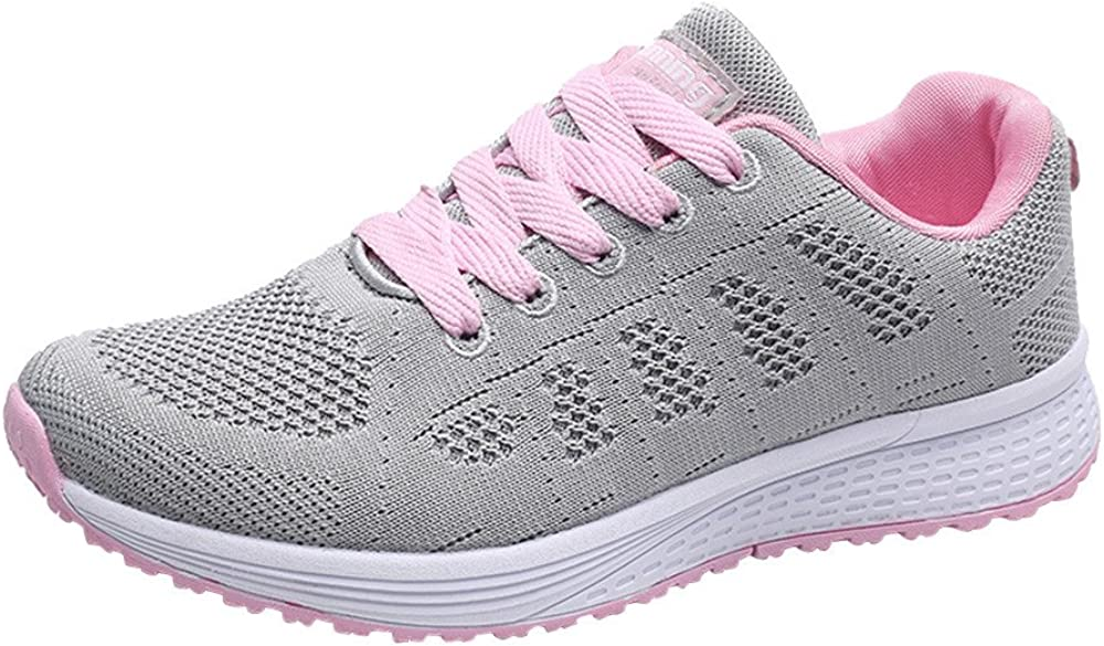 Hattfart Womens Fashion Lightweight Tennis Walking Shoes Sport Air Fitness Gym Jogging Running Sneaker