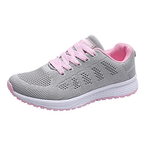 sports shoes 49823 83957 LHWY Damen Schuhe Elegant Winter Sneaker Frauen Mode Mesh Runde Lace Flache  Turnschuhe Laufschuhe Freizeitschuhe Schwarz Weiß