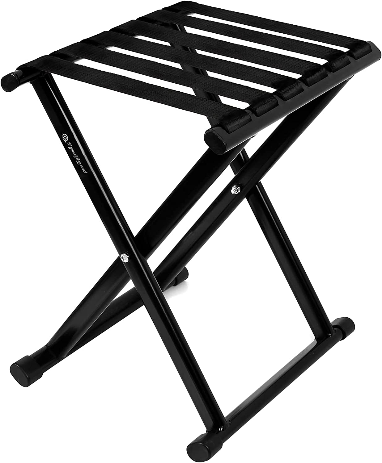 Camping Stool, Heavy-Duty Folding Stool, Portable Outdoor Small Folding Chair, Hold Up to 600lbs , Camp Stool Suitable for Camping, Hiking, Fishing (M, Black)