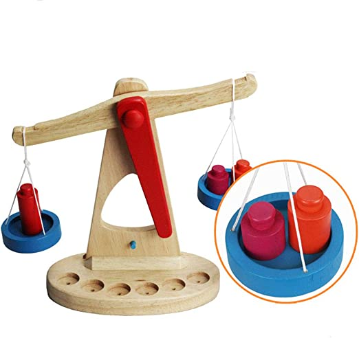 Early Learning Educational Toys Wooden Balance Scale for Kids Gift