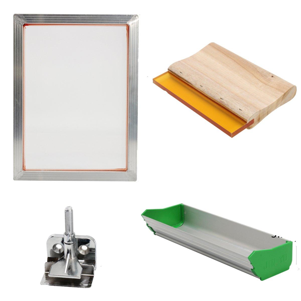 Wuchance Kit für Siebdruckwerkzeuge mit Aluminiumrahmenscharnierklemmemulsionsrakel