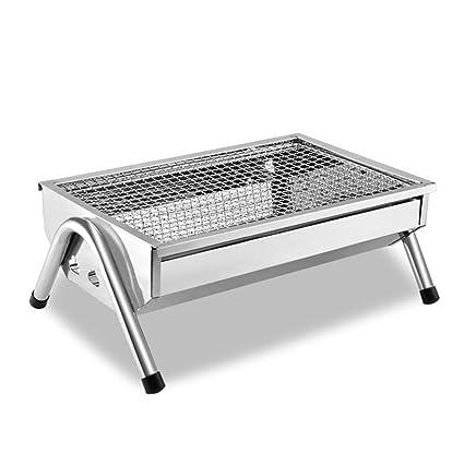 HomJo Barbacoa grill Además de gruesa barbacoa de acero inoxidable parrilla camping al aire libre parrilla