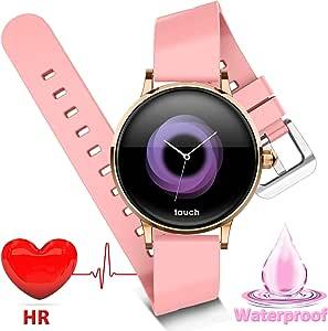 Women Smart Watch, Waterproof Fitness Tracker Smartwatch with Heart Rate Blood Pressure Monitor for Women Men Xmas Birthday Gift Smart Bracelet GPS ...