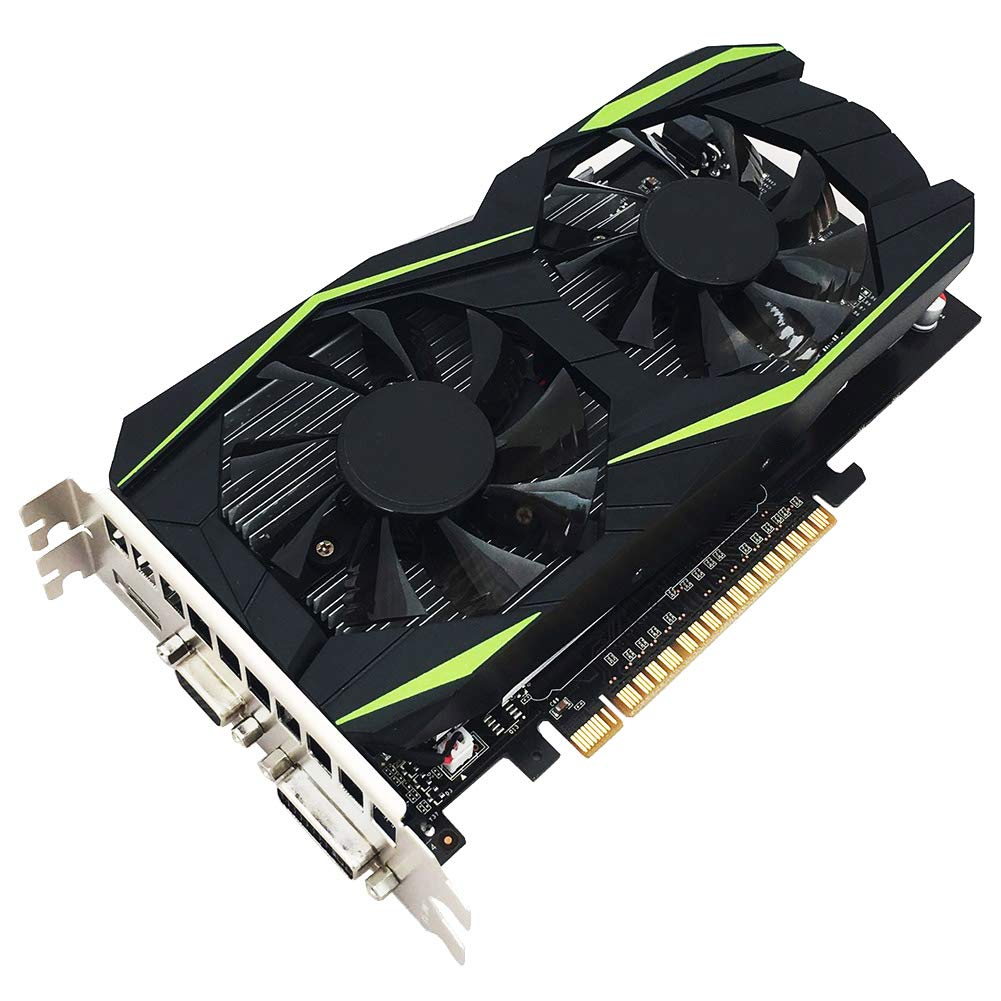Qjoy Gaming Video Graphics Card 4GB GDDR5 128bit with Dual Cooling Fan for Computer