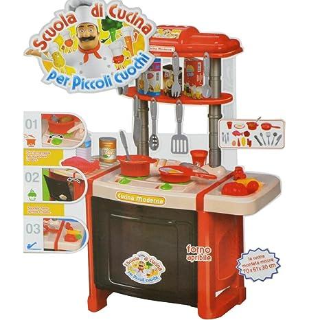 Cucina Per Bambine Giocattolo 24 Accessori Con Stoviglie Luci e ...