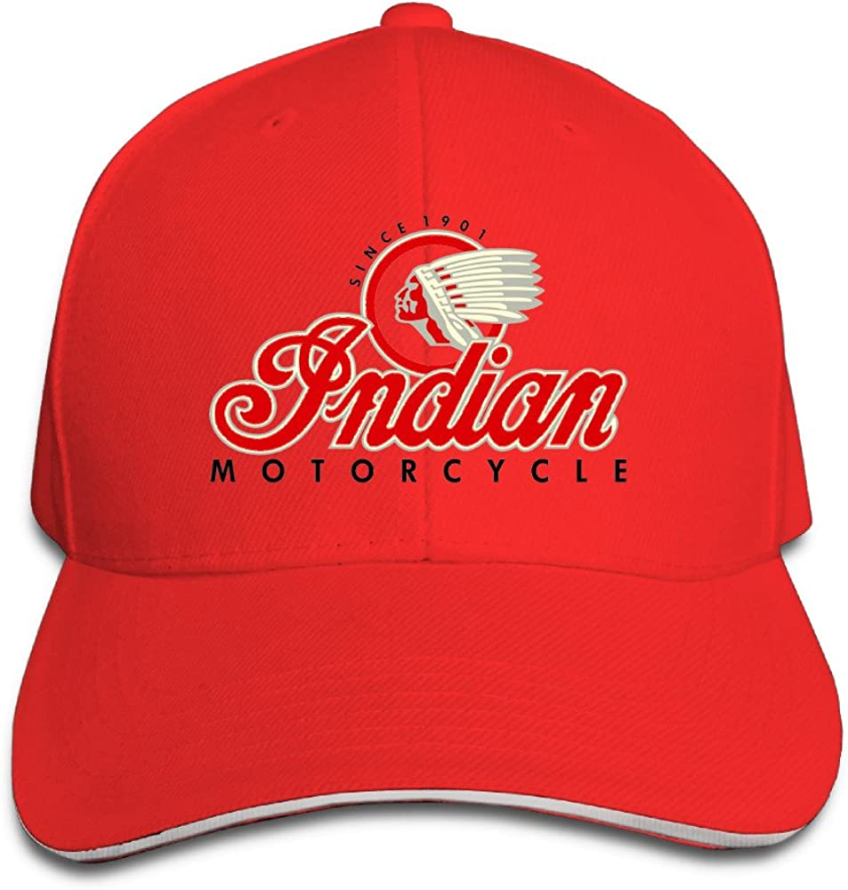 Messpet Hats Indian Motorcycle Denim Cowboy Hat Baseball Cap Black