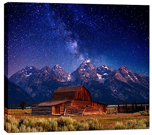 Epic Graffiti Cortesi Home Teton Nights by Darren White, Giclee Canvas Wall Art, 16'' x 18'' by Epic Graffiti
