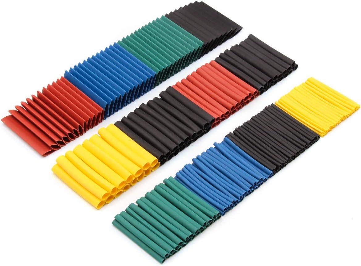 Prevenir la Corrosi/ón del Metal etc Termorretr/áctil Poliolefina 530 Pcs Tubo Termorretr/áctil 2: 1 Poliolefina Tubo Termoretr/áctil Envoltura de Alambre 5 Color 12 Tama/ño para Protecci/ón el cable