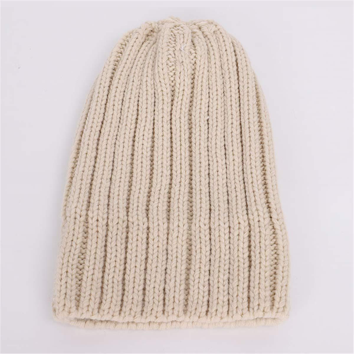 LKXHarleya Children Cable Knit Pom Poms Beanie Cap with Chunky Wrap Neck Warmer Scarf