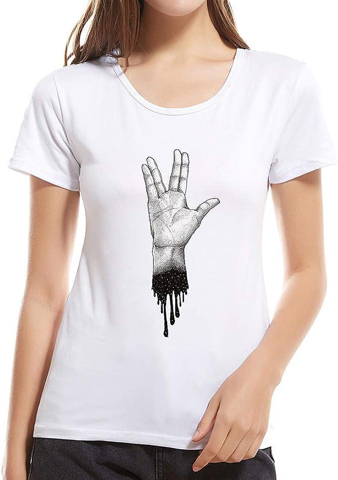 Camiseta para Mujer Manga Corta Tops Camisas de Verano Impreso ...