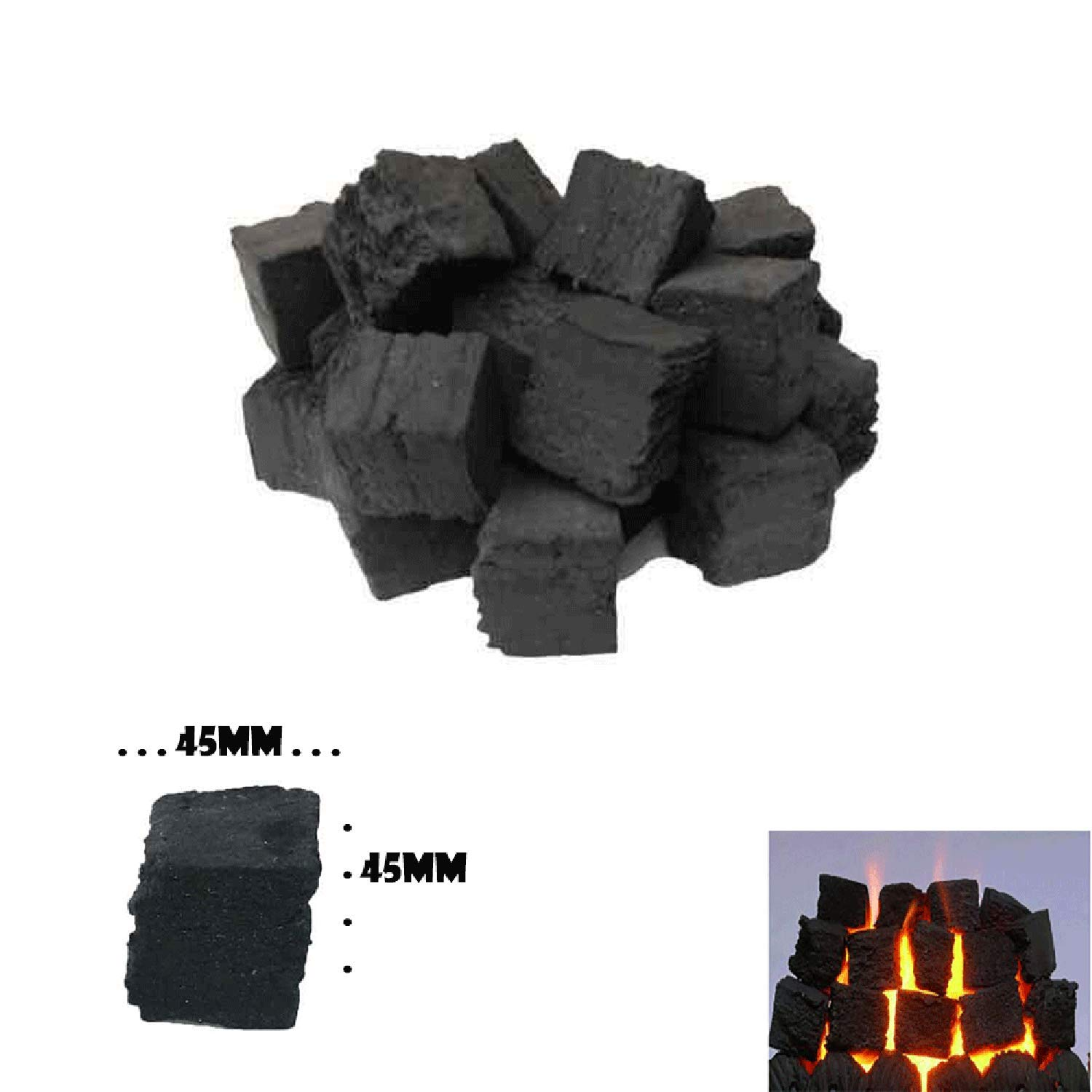 20 GAS FIRE REPLACEMENT COALS COAL SQUARE CERAMIC 50MM SPECIAL OFFER NEW SELLER