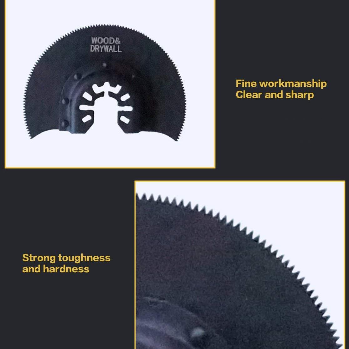 88 mm Herramientas multifuncionales oscilantes Accesorios para Herramientas el/éctricas para Cortar Madera LouiseEvel215 Hoja de Sierra de segmento HCS semicircular de 80 mm