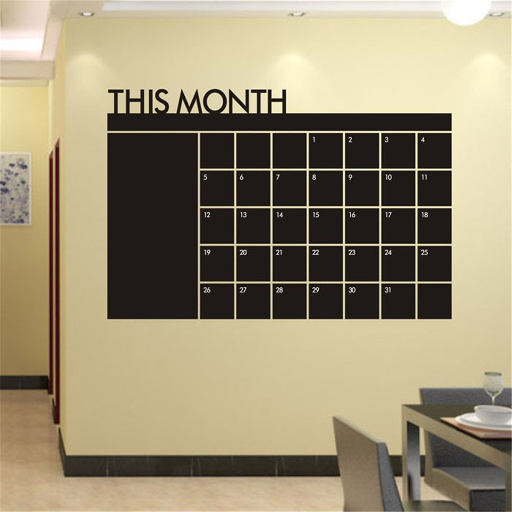 Amazon.com: TIFENNY Fashion Month Plan Calendar Chalkboard ...