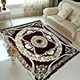 radhey home furnishing brown velvet carpet