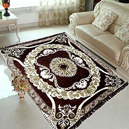 radhey home furnishing brown velvet carpet