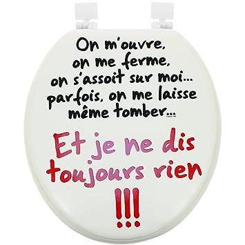 Promobo -Abattant de Toilette WC Mousse Imprimé Fun Charade Cool ...