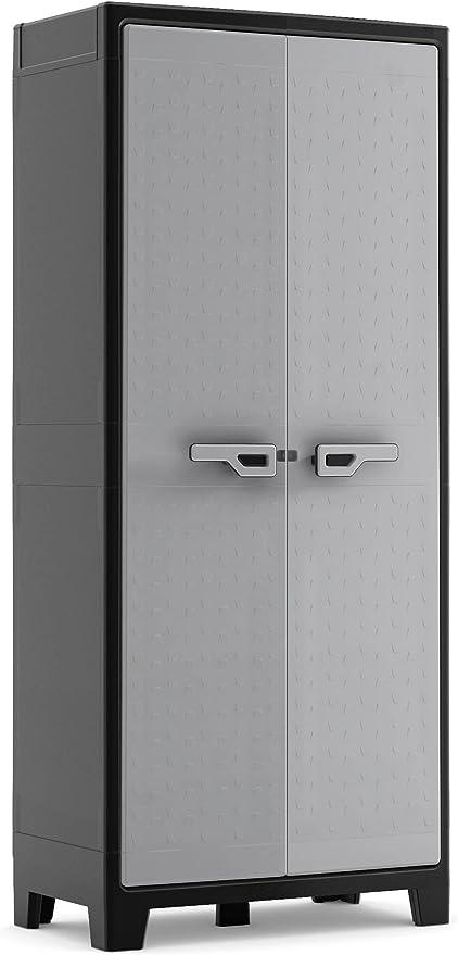 Keter Armoire Haute Utilitaire Titan Noir Gris 80 X 44 X 182 Cm Plastique Amazon Fr Bricolage