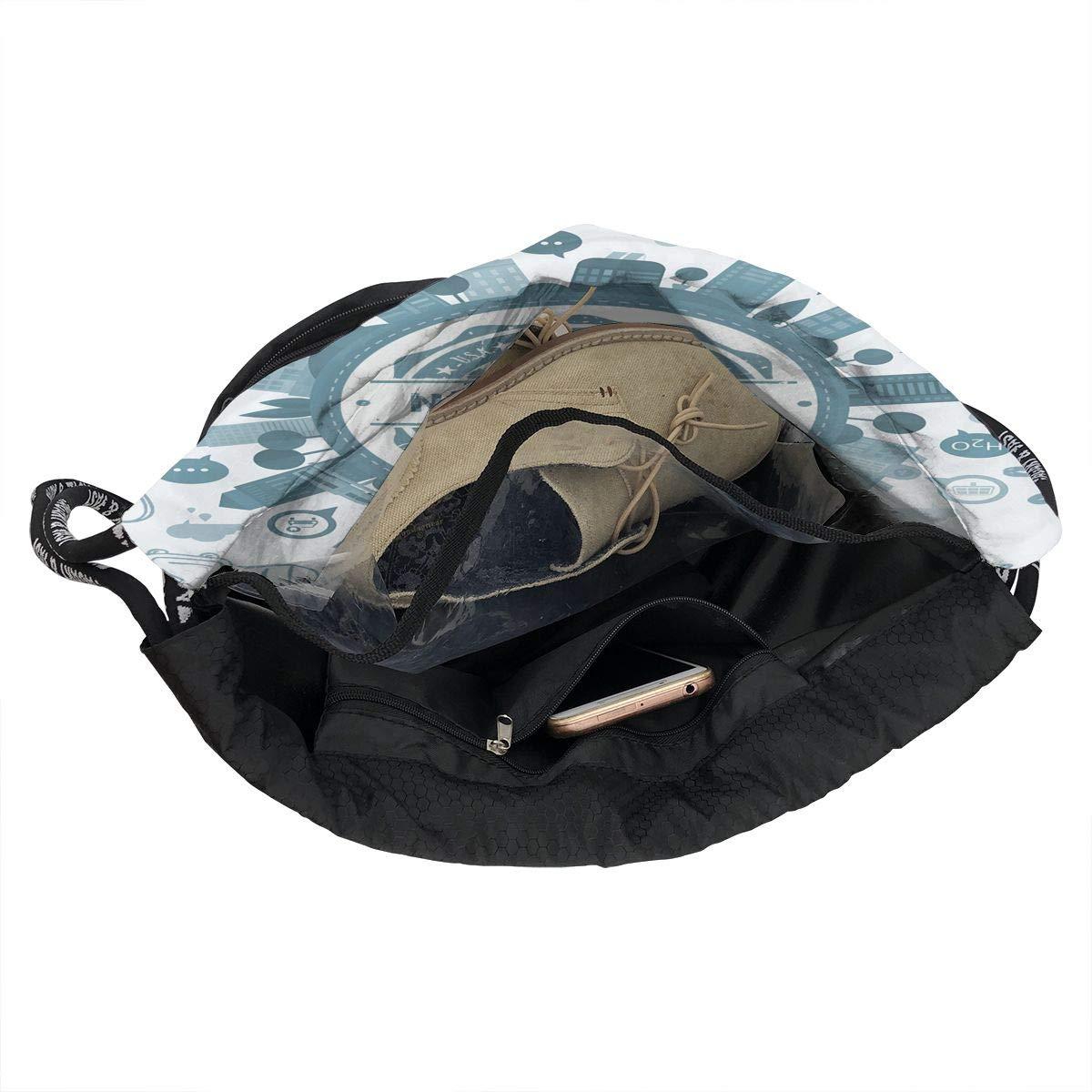 Burst Sackpack X-JUSEN Print Bloomington Multi-Function Drawstring Bundle Backpack Tote Cinch Sack Gym Bag Pocket Daypack