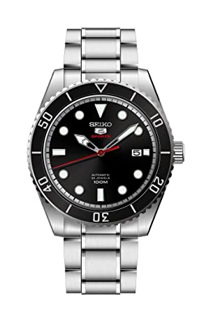 87c674a87 Image Unavailable. Image not available for. Color: Seiko Mens Analogue  Automatic Watch with Stainless Steel Strap SRPB91K1