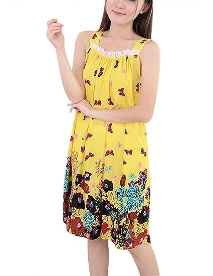 BabyPrice Women Nightgowns Dress Cotton Dressing Gowns Sleepshirts ...