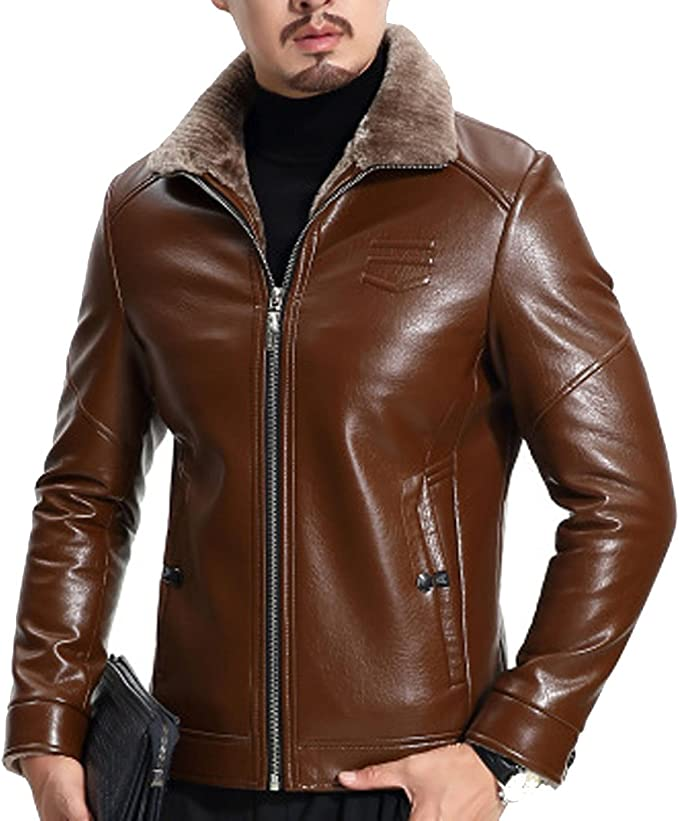 ROSEUNION Homme Hiver Stand Collar Chaud Manteaux Lining