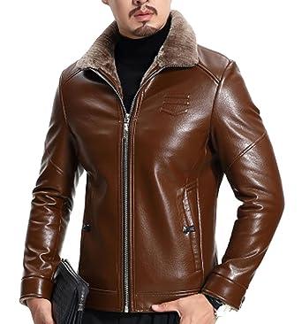 Veste en cuir homme peau d'ane