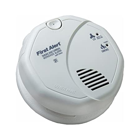 First Alert BRK SC7010BV Hardwired Talking Photoelectric Smoke and Carbon Monoxide Alarm 4 Pack