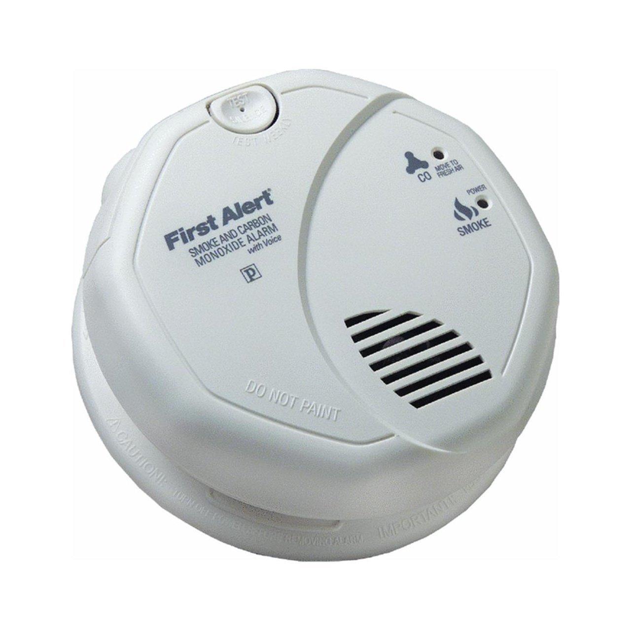 First Alert BRK SC7010BV Hardwired Talking Photoelectric Smoke and Carbon Monoxide Alarm  2 Pack