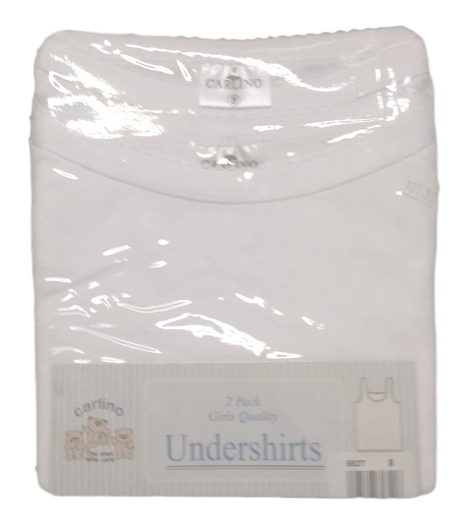 Carlino 2-Pack Spaghetti Strap Camisole Undershirts - 100% Cotton, Extra Soft