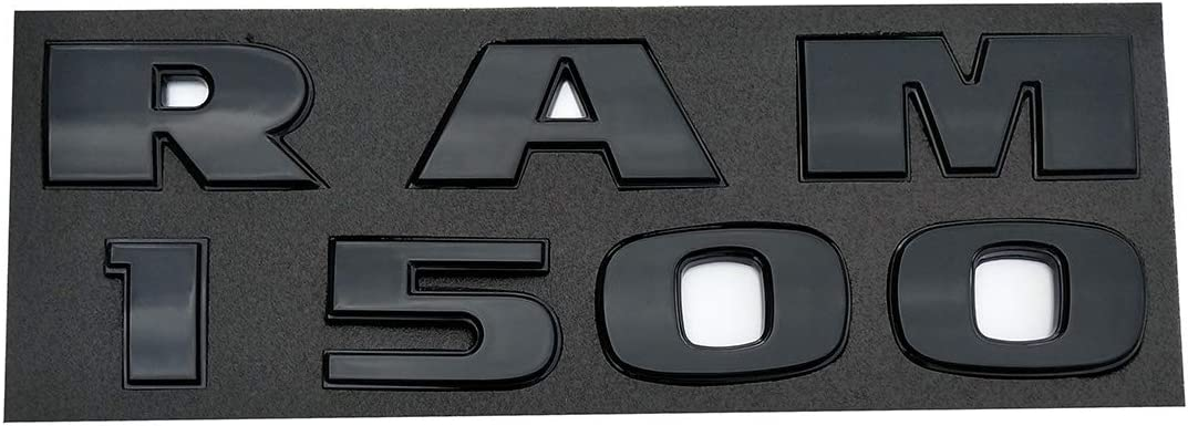 Dodge Ram 1500 and 4x4 emblems Nameplate,3D ABS Stickers Decals Nameplates Auto Emblem Badge Decal For Dodge Black