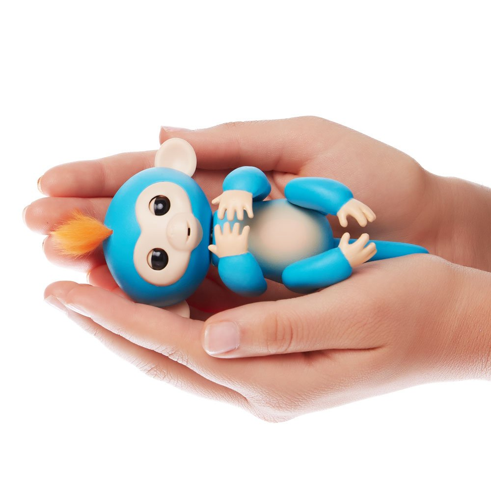 Fingerlings - Interactive Baby Monkey- Boris (Blue with Orange Hair) By WowWee by WowWee (Image #3)