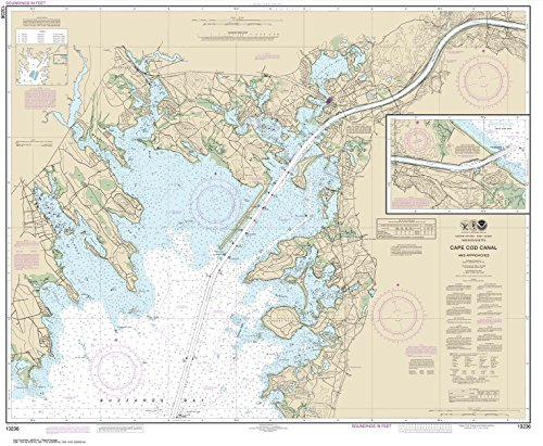Paradise Cay Publications NOAA Chart 13236: Cape Cod Canal and Approaches 36 x 43.7 (TRADITIONAL PAPER) - Noaa Marine Charts