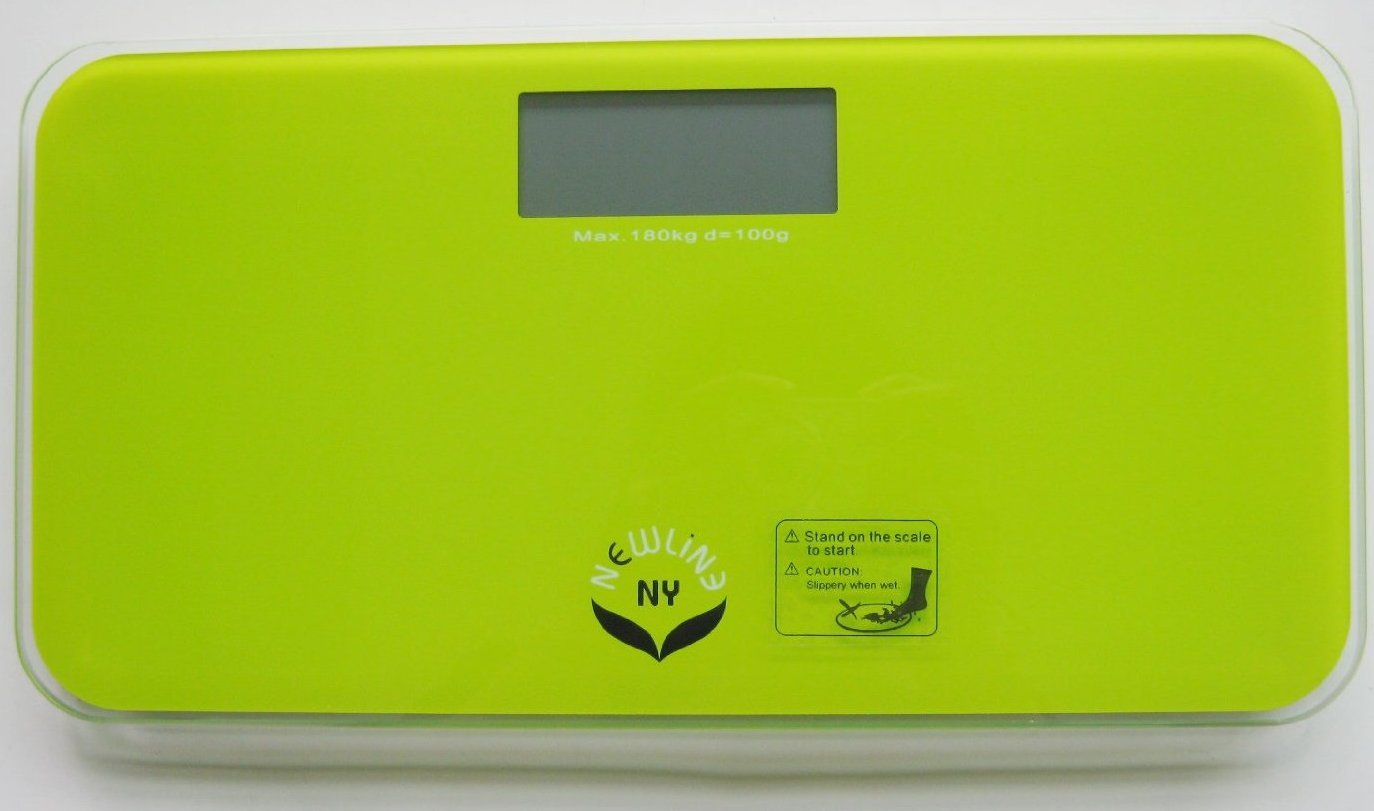 NewlineNY  SBB-0719M-NYLG Step-On Mini Travel Bathroom Scale, Modern Green