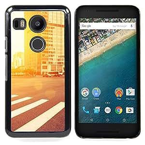 GIFT CHOICE / Teléfono Estuche protector Duro Cáscara Funda Cubierta Caso / Hard Case for LG GOOGLE NEXUS 5X H790 // Street Glow //