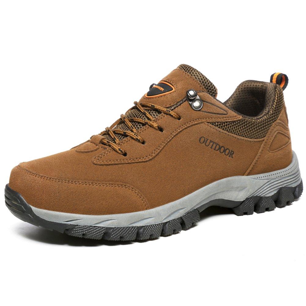 NEOKER Wanderschuhe Trekking Schuhe Herren Damen Sports Outdoor Hiking Sneaker Armee Gruuml;n Blau Schwarz Grau 36-48  (43EU) Braun-2