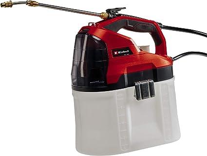 Einhell Pulverizador con presión GE-WS 18/75 Li-Solo Power X-Change (18 V, iones de litio, 8.2 L tanque, bomba automática, 60 L/h, depósito transparente, lanza telescópica, sin batería ni cargador): Amazon.es: Bricolaje y