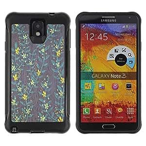 Suave TPU GEL Carcasa Funda Silicona Blando Estuche Caso de protección (para) Samsung Note 3 / CECELL Phone case / / Wallpaper Yellow Teal Grey Green /