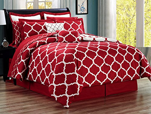 red and white comforter - 6