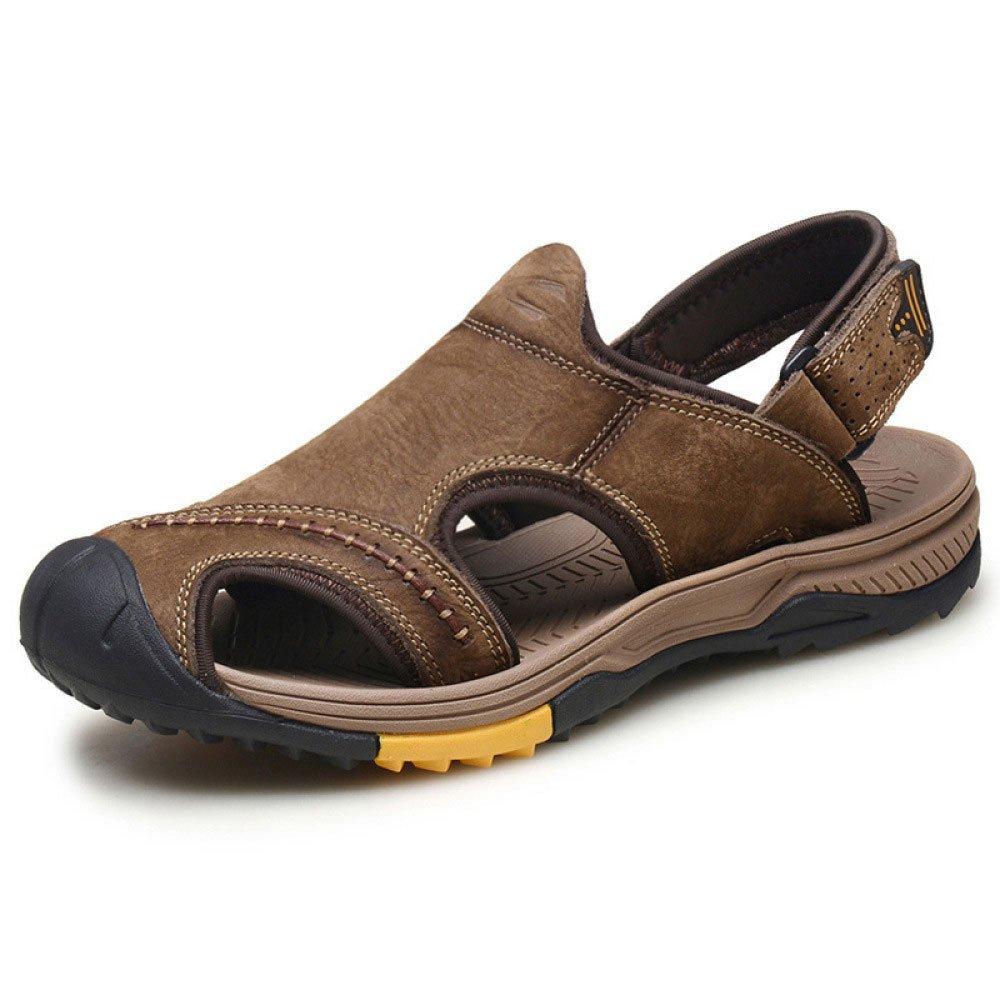Sandalias Baotou Beach Shoes Summer Hollow Air Shoes 43 EU|Brown