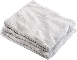 product image for Brahms/Mount Penobscot Blanket | Cotton - Oyster - King Size