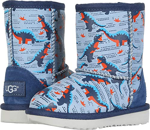 UGG Baby T Classic Short II Desert Dino Fashion Boot, Ballad Blue 7 M US Toddler]()